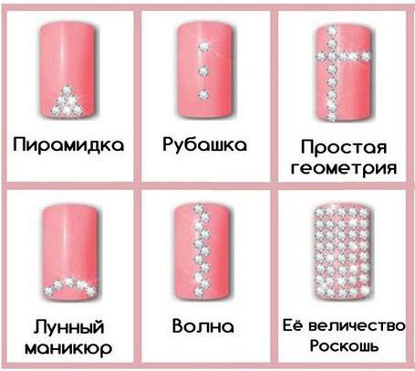 Ногти со стразами дизайн