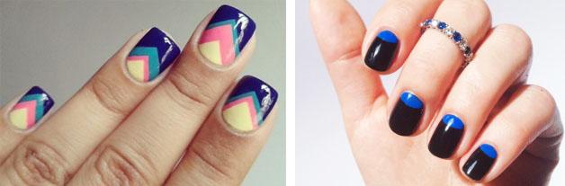 Дизайн для широких ногтевых пластин
