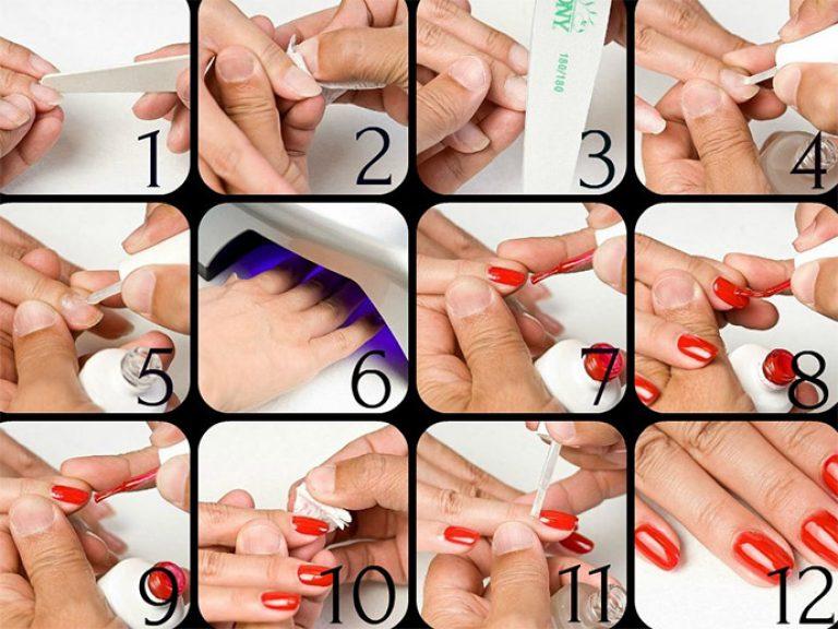 Покрыть ногти гель лаком в домашних условиях на ногах