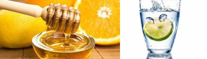 Лимонная вода с медом