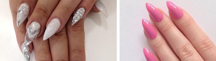 Миндалевидные ногтевые пластины