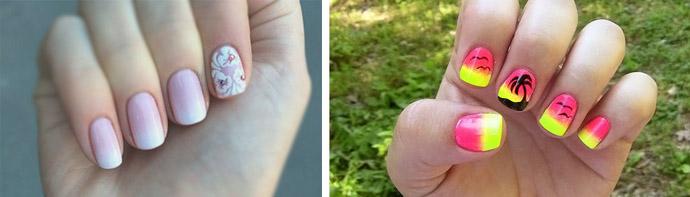 Маникюр градиент гель лаком