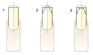 Придание ногтевой пластине острой формы