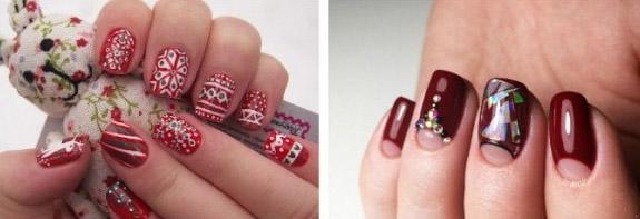 Дизайн ногтей на Новый год 2018: идеи маникюра, новинки, фото