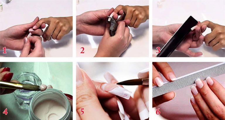 Как сделать ногти на типсах 124