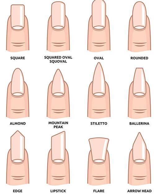 форма ногтей для наращивания фото