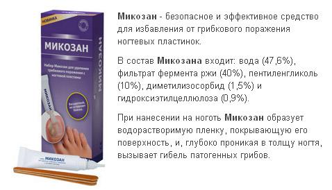 Состав препарата Микозан