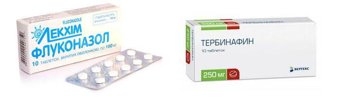 Таблетки Флуконазол и Тербинафин